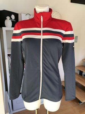 Lindeberg Golf Stretchjacke Golfjacke Sportjacke graublau rot weiß Jacke