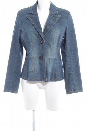 Lindex Denim Jacket slate-gray-pale yellow simple style