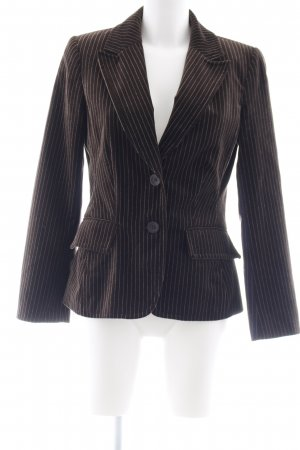 Lindex Blazer de esmoquin marrón oscuro-blanco raya diplomática