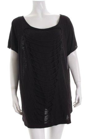 Lindex T-Shirt schwarz Lagen-Look