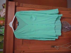 lindgrüne Bluse 46 zum Knöpfen