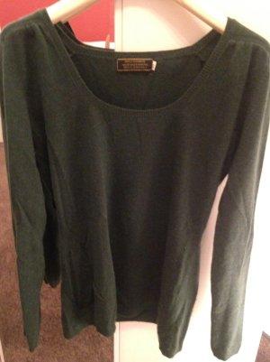 Lindgrüner Cashmere-Pullover
