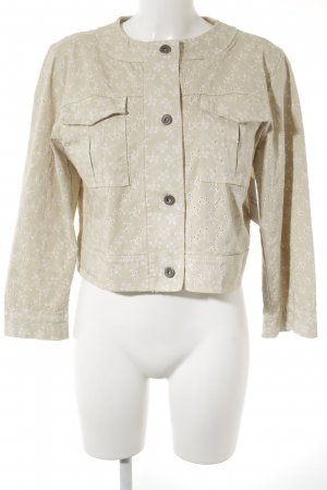 Lindsay Moda Short Jacket beige-cream floral pattern casual look