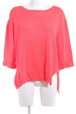 Lindsay Moda Oversized Pullover neonrot Boyfriend-Look