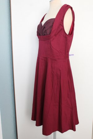 Lindy Bop Gr. 46 bordeaux Kleid sixties