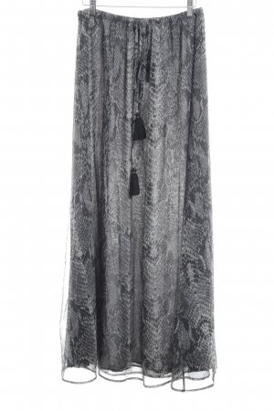 Line of Oslo Maxi Skirt black-grey abstract pattern