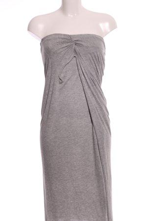Line of Oslo Vestido strapless gris claro moteado look casual