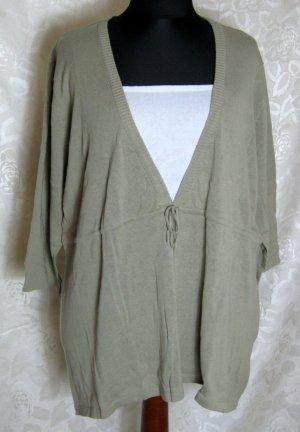 Camisa tipo túnica blanco-beige Algodón