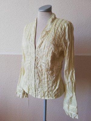 Linea Langarmbluse Langarm Bluse Blusentop kiwi grün Gr. UK 10 EUR 38 S M