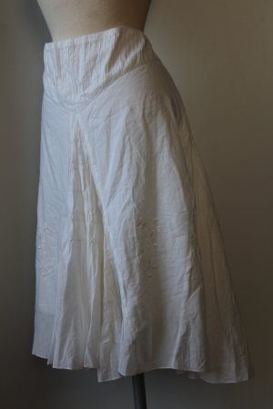 In Linea Flared Skirt white cotton