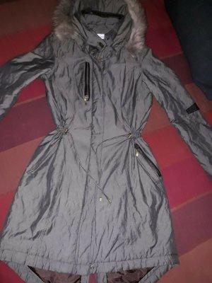 Linea Tesini Manteau matelassé gris tissu mixte