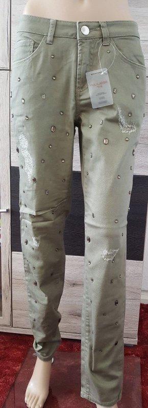 "Linea Tesini Damen Hose/Jeans Gr. 40 ""khaki"" NEU"