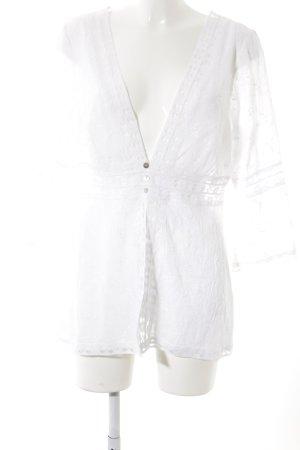 Linea Tesini Kimono weiß florales Muster Elegant