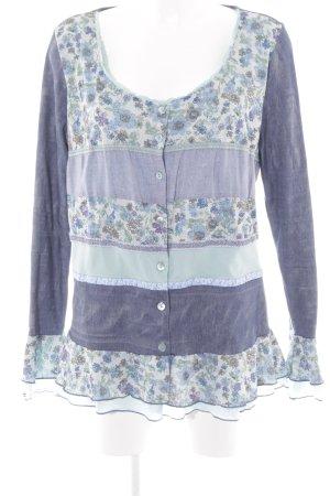 Linea Tesini Langarm-Bluse florales Muster Romantik-Look