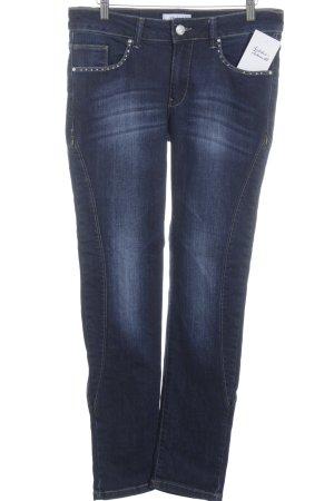 Linea Tesini Slim Jeans blau Casual-Look