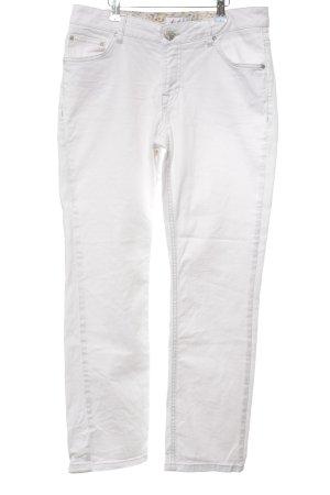 Linea Tesini Straight-Leg Jeans weiß Casual-Look