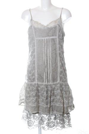 Linea Tesini Vestido estilo flounce gris claro look casual