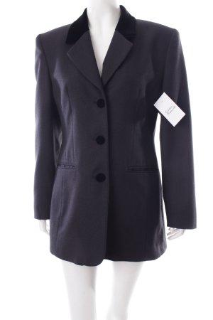 Linea V Long-Blazer schwarz Business-Look