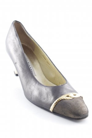 Linea Wally's Hochfront-Pumps bronzefarben-goldfarben Ornamentenmuster