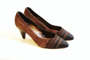 High Heels brown-black suede