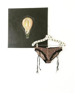 lingerie / dessous / vintage / underwear / granny / leoprint