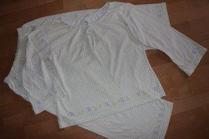 C&A Pijama blanco-verde pálido tejido mezclado