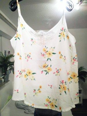 Lingerie Top Shirt mit Blumen und Spitze