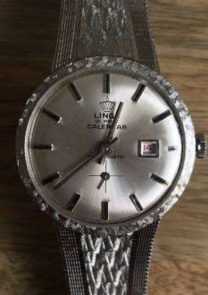 Self-Winding Watch light grey stainless steel