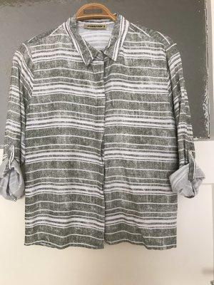 Camicia a maniche corte bianco-grigio