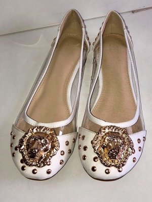 Patent Leather Ballerinas white-gold-colored
