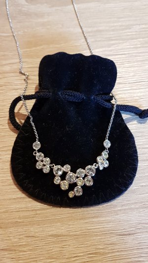 Swarovski Necklace silver-colored-baby blue