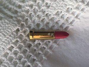 Lipstick Brosche Lippenstift 1980er 1980s Vintage mit Steinen Retro pink gold