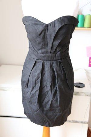 Lipsy 34 trägerloses Kleid 36 schwarz