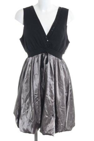 Lipsy A-Linien Kleid schwarz-silberfarben Elegant