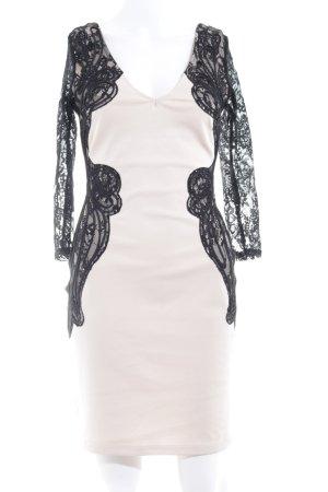 Lipsy Abendkleid creme-schwarz Elegant