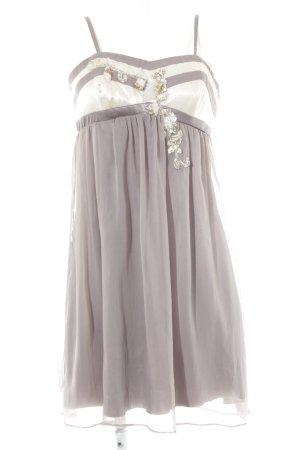 Lipsy Abendkleid grau-creme Paillettenverzierung