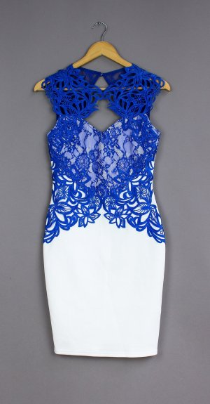 Lipsy Pencil Dress white-blue