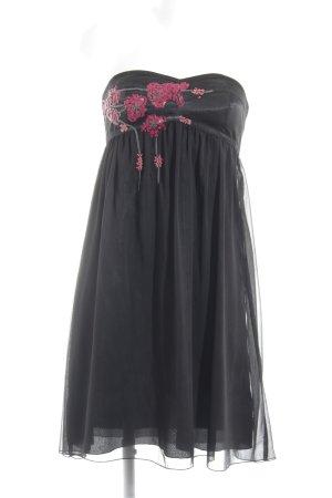 Lipsy Abendkleid schwarz Motivdruck Casual-Look