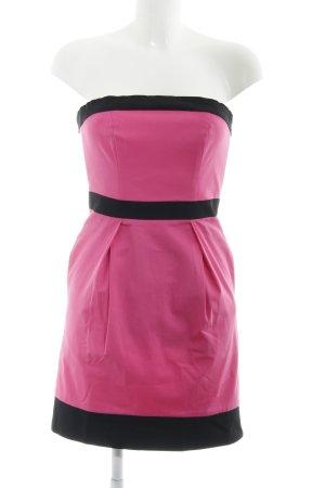 Lipsy Bandeaukleid schwarz-pink Elegant