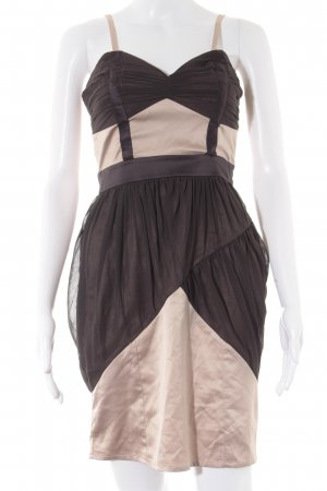 Lipsy Bustier Dress dark brown-nude party style