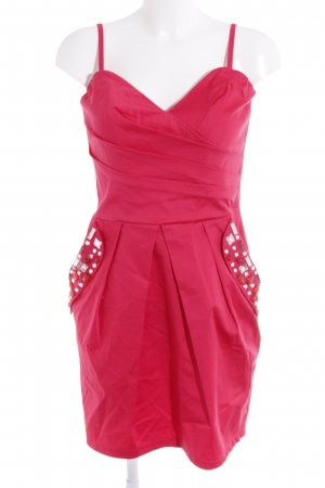 Lipsy Bustierkleid pink Glitzersteinverzierung