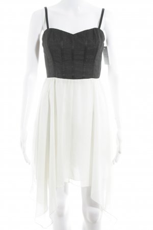 Lipsy Bustier Dress black-cream extravagant style