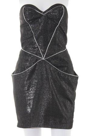 Lipsy Vestido bustier color plata-gris oscuro look efecto mojado
