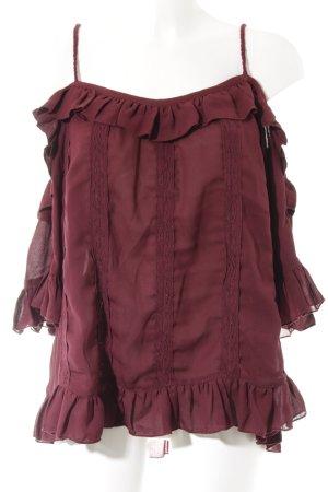 Lipsy Carmen-Bluse purpur Elegant