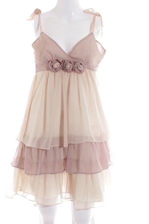 Lipsy Chiffonkleid creme-pink Elegant