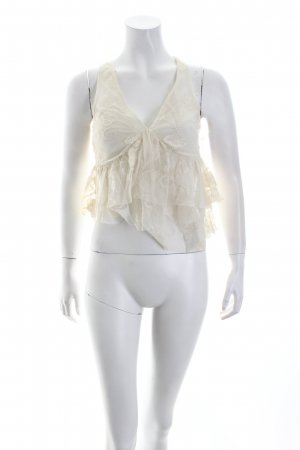 Lipsy Cropped Top creme Eleganz-Look