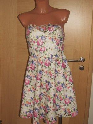 Lipsy Damen Kleid Sommerkleid Minikleid Bandeaukleid Hängerchen Gr.36 Neuwertig