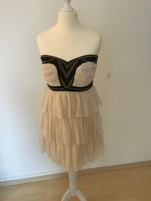 Lipsy dress nude boho Gold Pailletten bandeau