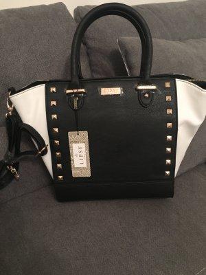 Lipsy Handtasche Schwarz Weiß Blogger Style