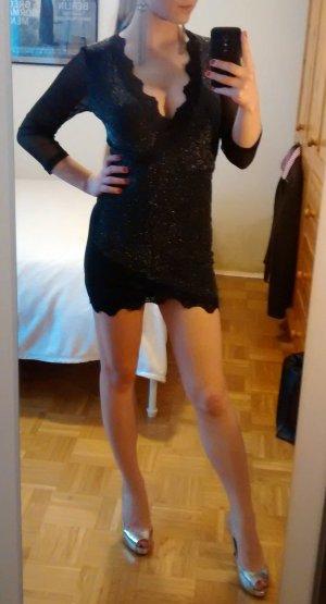 Lipsy Kleid Gr. S 36 Glitzer Silvester schwarz sexy party verführerisch